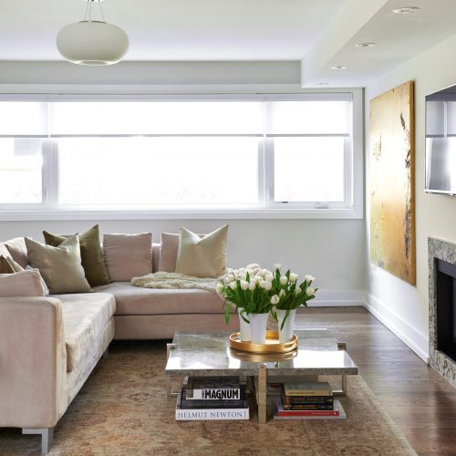 toronto mid-century family home - family room linda mazur design toronto designer - design build renovate decorate