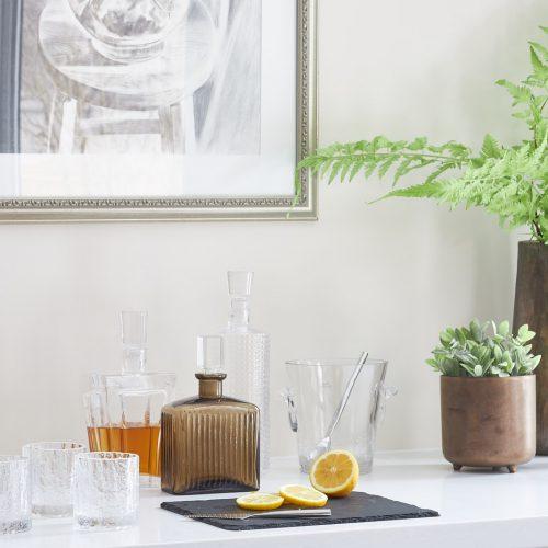 markham kitchen renovation cream custom millwork bar area close up - luxury kitchen - family home - linda mazur design