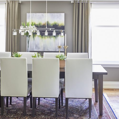 newmarket historic home dining room - transitional style - linda mazur design toronto designer
