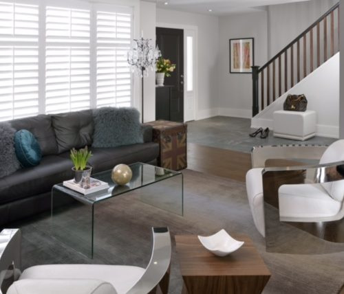 newmarket renovate design build - transitional living room - linda mazur design