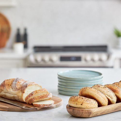 mississauga custom kitchen renovation - quartz counter tops and backsplash - island vignette - linda mazur design toronto designer